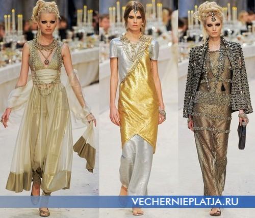 Восточные вечерние платья от Шанель, 2012-2013