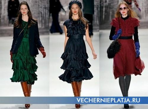 Платья с воланами фото, Milly 2011-2012