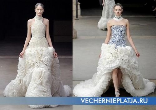 Платье с воланами 2011-2012 Alexander McQueen