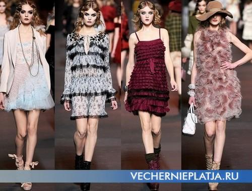 Короткое платье с воланами, коллекция Осень-Зима 2011-2012 Christian Dior