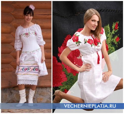 Платья с украинской вышивкой