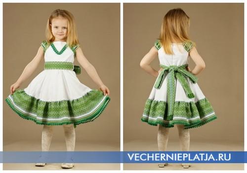 Платья с украинской вышивкой для девочек