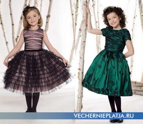 Красивые вечерние платья для девочек фото