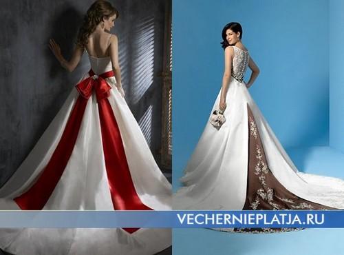 Необычные свадебные платья со шлейфом
