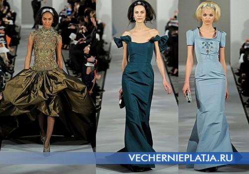 Длинные платья на Новый год 2013, Oscar de la Renta - осень-зима 2012-2013
