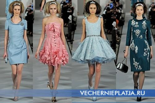 Короткие платья на Новый год 2013, Oscar de la Renta - осень-зима 2012-2013