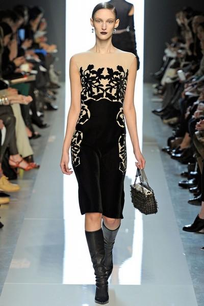 Трикотажні сукні осінь 2012 від bottega veneta