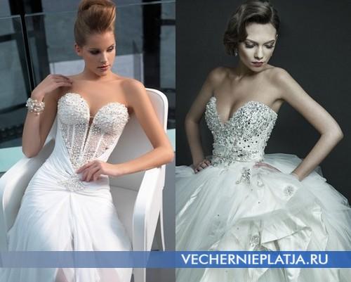 Свадебные платья с глубоким вырезом декольте и вышивкой фото, Atelier Signore и Ersa Atelier