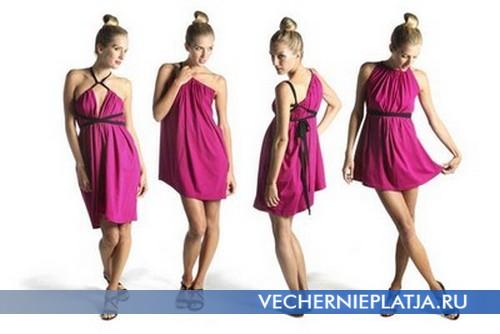 Розовое платье трансформер фото
