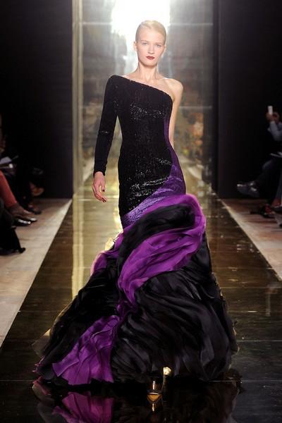 В чем встречать Новый год 2013 – вечернее платье-русалка от Georges Chakra, 2012-2013