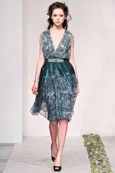 В чем встретить Новый год 2013, платье от Luisa Beccaria