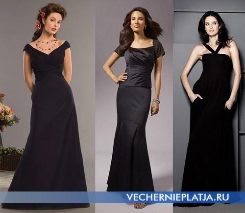 Прелестные черные свадебные платья фото