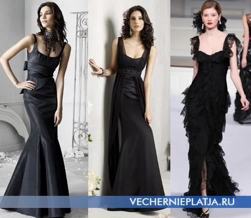 Необычные свадебные платья черного цвета