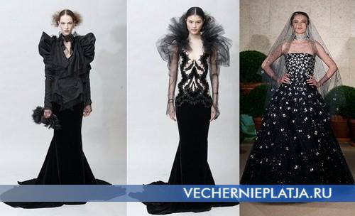 Черные свадебные платья Marchesa и Oscar de la Renta