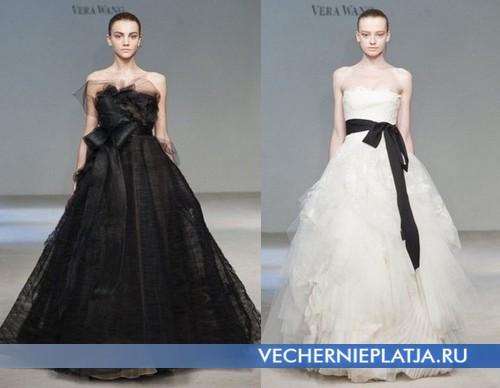 Черно-белые свадебные платья Веры Вонг