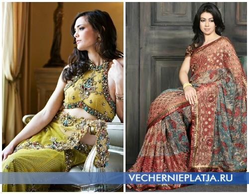 Индийское платье сари - фото