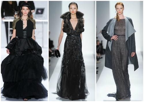 Как носить длинное черное платье фото