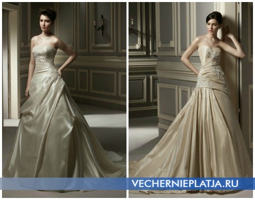 Свадебные платья осень 2012 цвета шампань