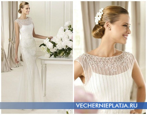 Материалы для осенних свадебных платьев 2012