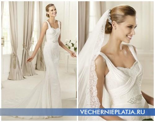 Свадебные платья осень 2012 на бретельках