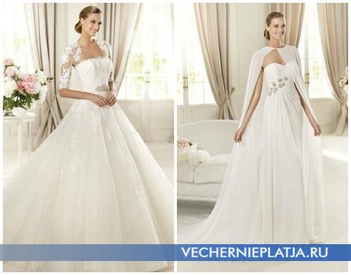 Свадебные платья осень 2012 с накидкой