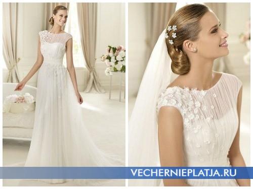 Декорирование свадебных платьев осень 2012 цветами