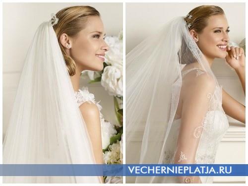 Свадебные платья осень 2012 с фатой