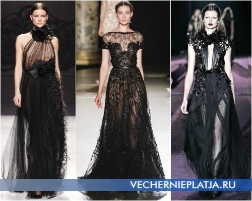 Черные вечерние платья Осень-Зима 2012-2013 фото
