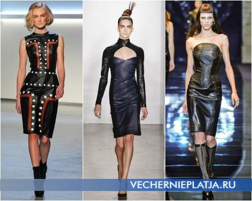 ,Черные кожаные платья фото