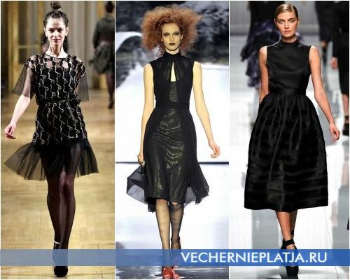 Черные коктейльные платья фото - Осень-Зима 2012-2013