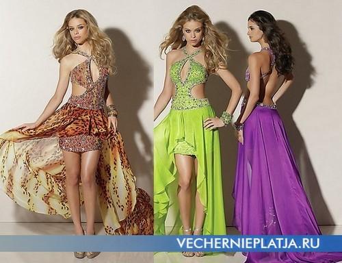 Модные платья со шлейфом с вырезами