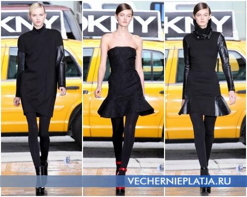 Маленькое черное платье Коко Шанель - на фото платья из коллекции DKNY