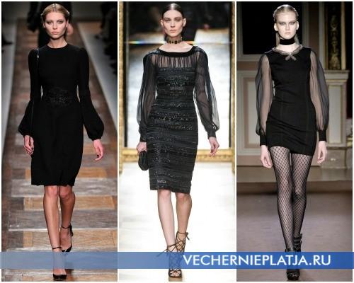 Маленькое черное платье 2012 2013 – фасоны от Valentino, Salvatore Ferragamo, Andrew Gn