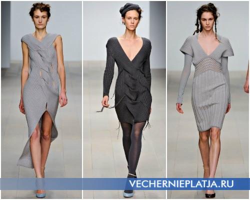 Вязаные платья-свитера от Mark Fast, Осень-Зима 2012-2013