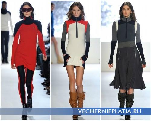 Трикотажные спортивные платья-свитера от Lacoste