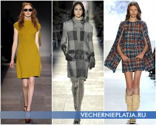 С чем носить платье-свитер – на фото модели Carven, Chanel, Lacoste