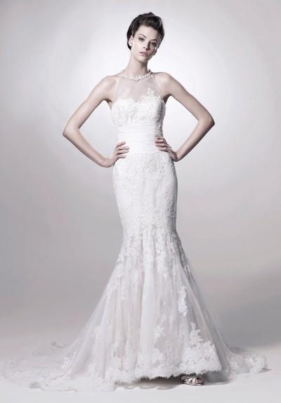Шикарное платье годе для невесты