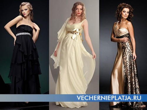 Вечерние платья в стиле Ампир