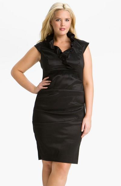 Платье-футляр Xscape для полных девушек