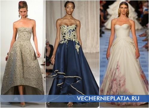 Длинные пышные платья на выпускной 2013 - Oscar de la Renta, Marchesa, Zac Posen