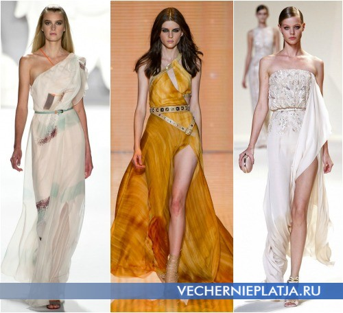 Выпускные платья в греческом стиле 2013 фото - Carolina Herrera, Versace, Elie Saab