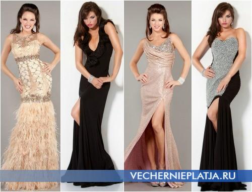 Шикарные длинные платья на выпускной 2013 фото