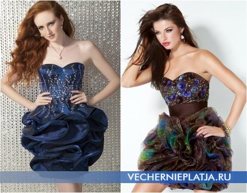 Платья на выпускной 2013 короткие фото
