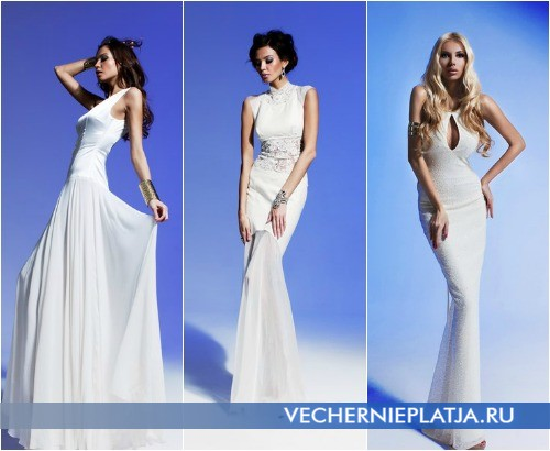 Вечерние белые платья Олеси Малинской 2013 фото