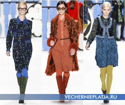 Платье с воротником в коллекции Anna Sui Осень-Зима 2012-2013