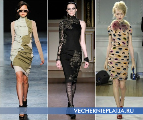 Платье-футляр с воротником от Acne, Andrew Gn, Moschino Cheap & Chic