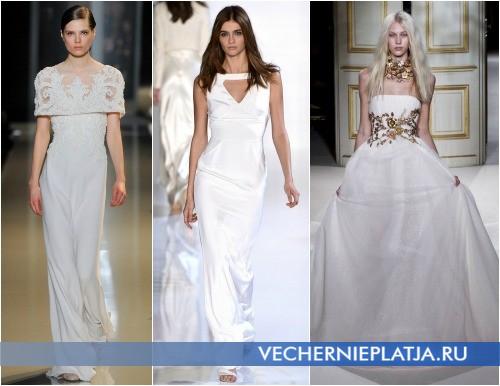 Платья на выпускной 2013 белого цвета фото Elie Saab, Valentin Yudashkin, Giambattista Valli