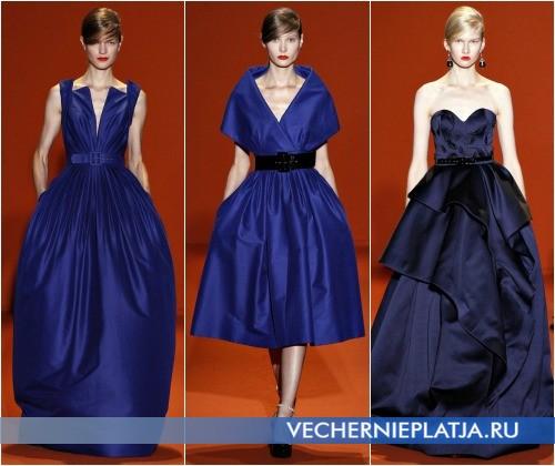 Выпускные платья 2013 синего цвета фото Andrew Gn