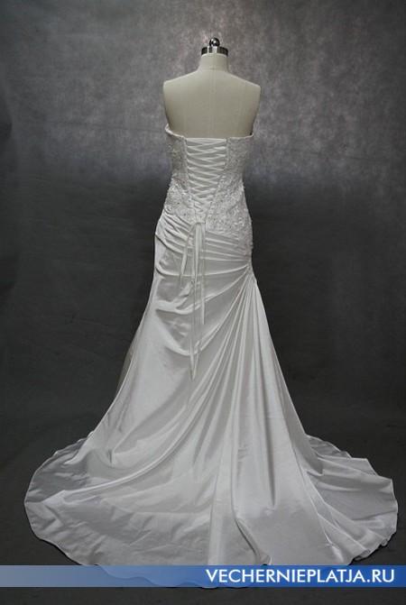 Свадебное платье из Китая - на фото вид сзади