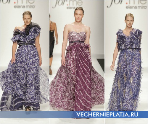 Длинные шифоновые платья для полных Весна-Лето 2013 от Elena Miro